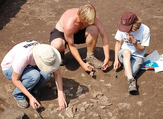 Neolithic digging site