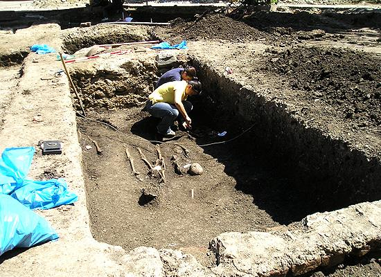 Saxon digging site