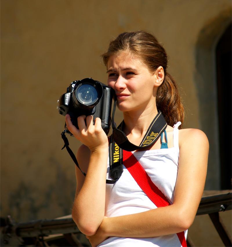 Volontaires sur un stage d'orientation en photographie pour les jeunes