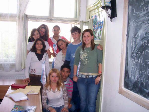 Volontaires sur une mission d'enseignement en Roumanie