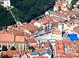 An ariel view of Brasov