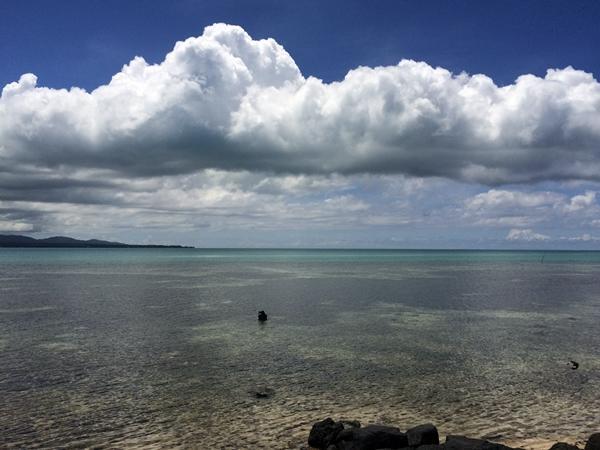 Scenic view of Samoan beach