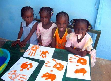 Arts plastiques sur une mission humanitaire au Sénégal