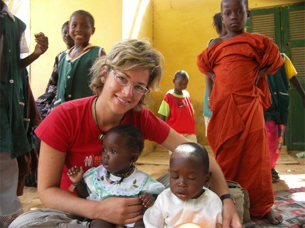 Enfants sur une mission humanitaire au Sénégal