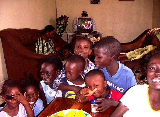 Orphanage kids eating