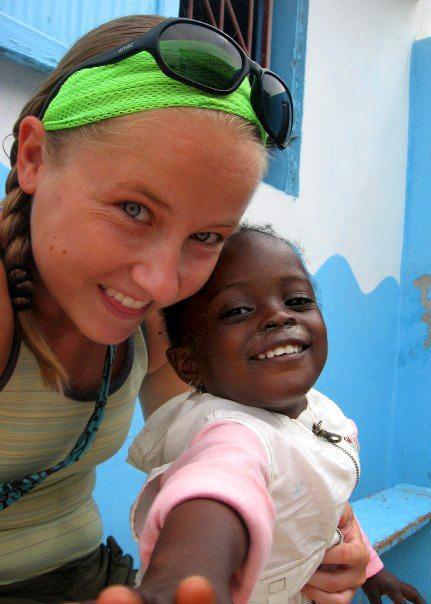 Volontaire sur une mission humanitaire, au Sénégal