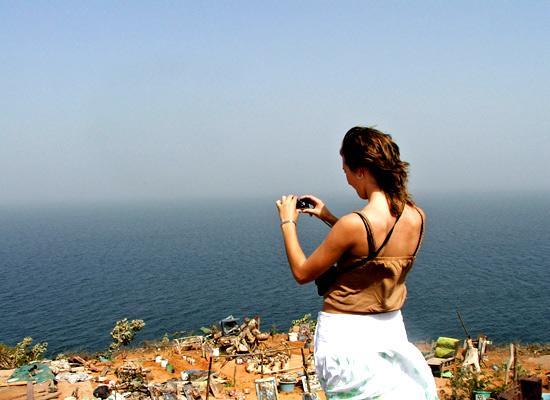 Volunteer searching the horizon