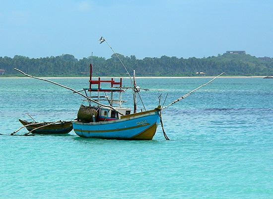 Boats in Matara bay