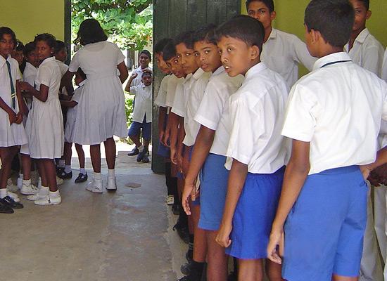 Children at Chandrasekara home