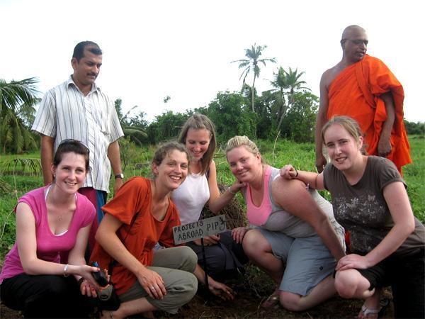 Groupe de volontaires au Sri Lanka