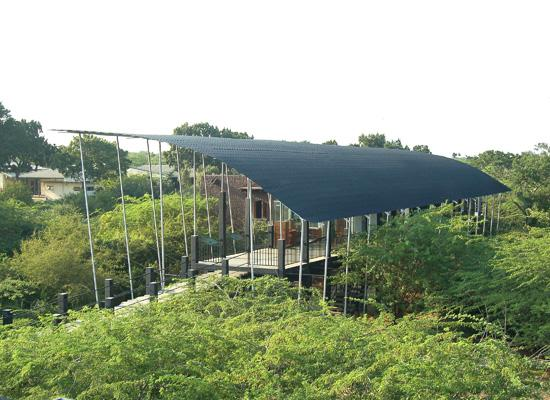 The visitor centre complex