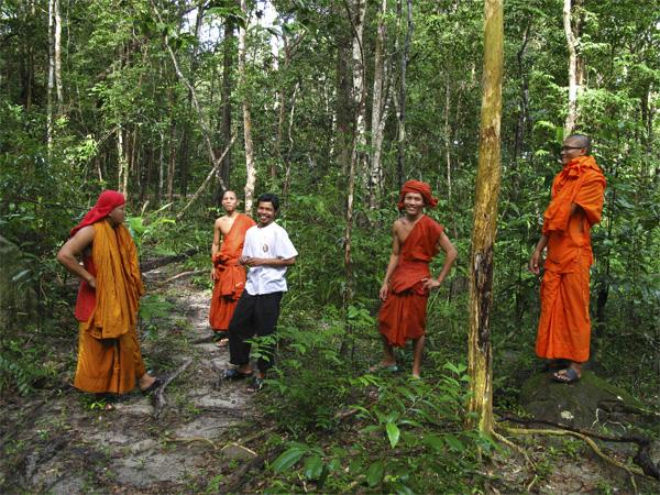 Monks en Thaïlande
