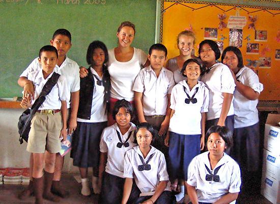 Volunteers with Kids