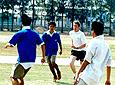 Volunteer Playing Football