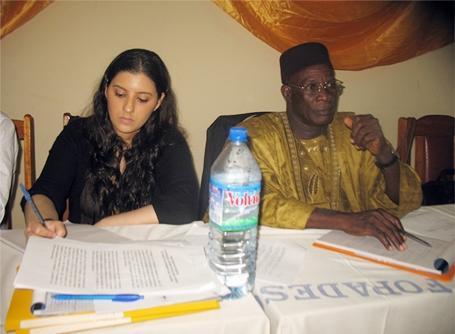 Volontaire sur un stage en Droits de la personne au Togo