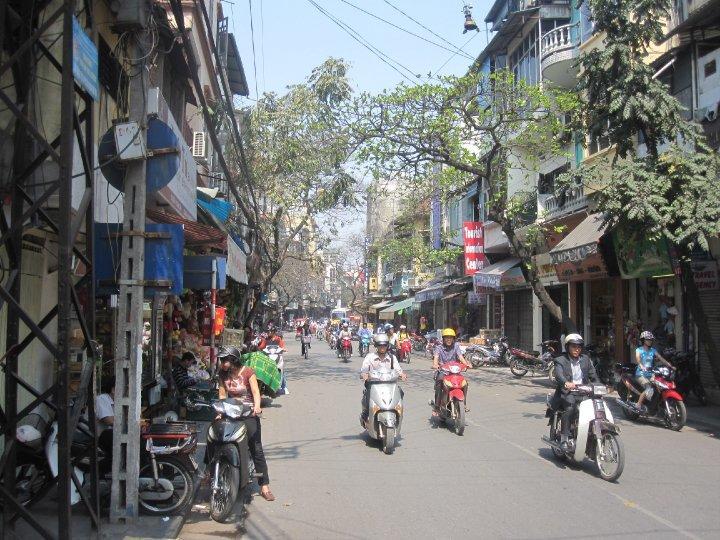 Vue de la rue au Vietnam