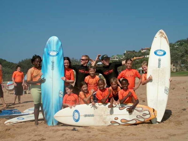 Volontaire mission sport surf