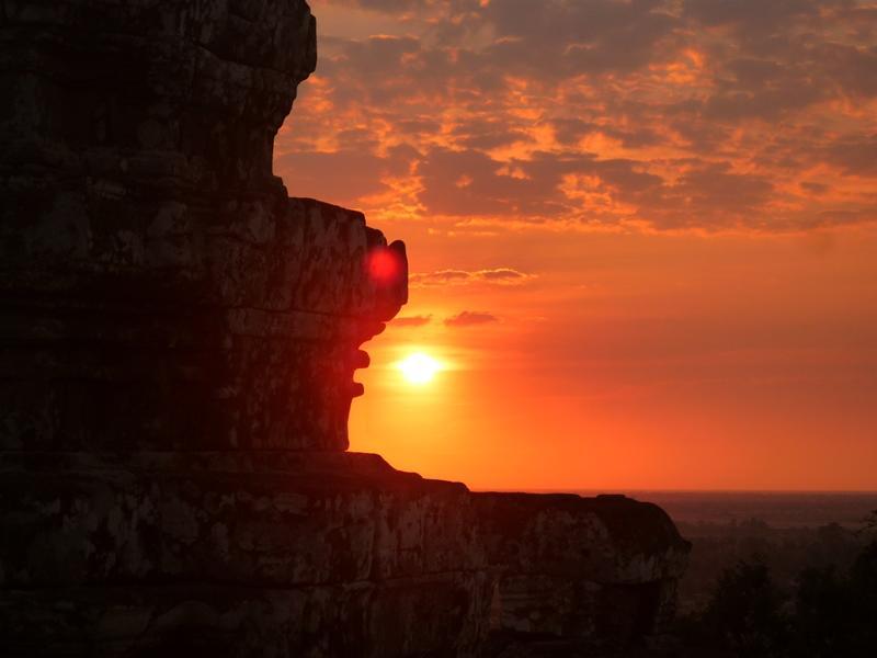 Vue sur un coucher de soleil