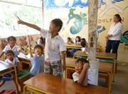 Groupe d'élèves en classe