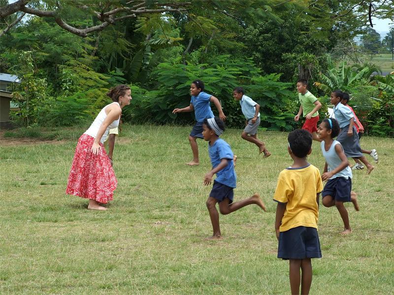 Activité jeu en humanitaire