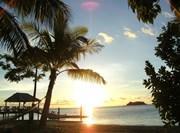 Levé du soleil sur le littoral