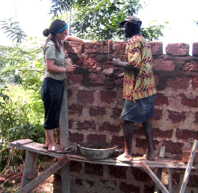 Volontaire sur un chantier