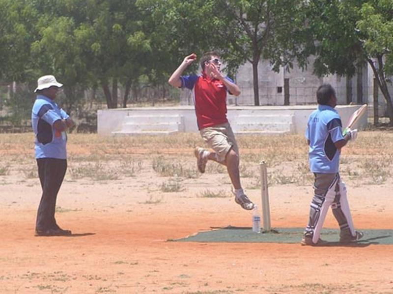 Volontaire mission sport cricket