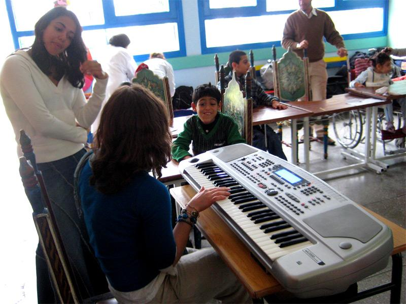 Activité musique humanitaire