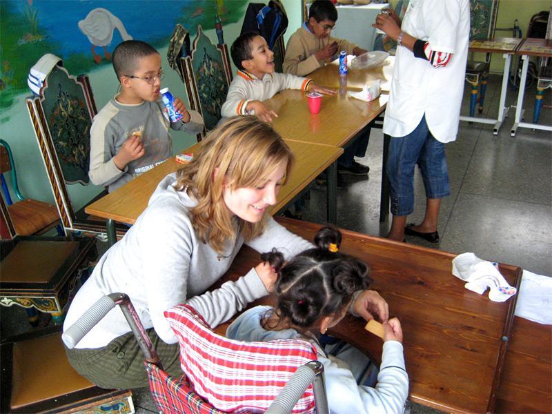 Volontaire auprès d'enfants handicapés