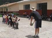 Activité sportive en humanitaire