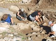 Travaux de fouilles archéologiques