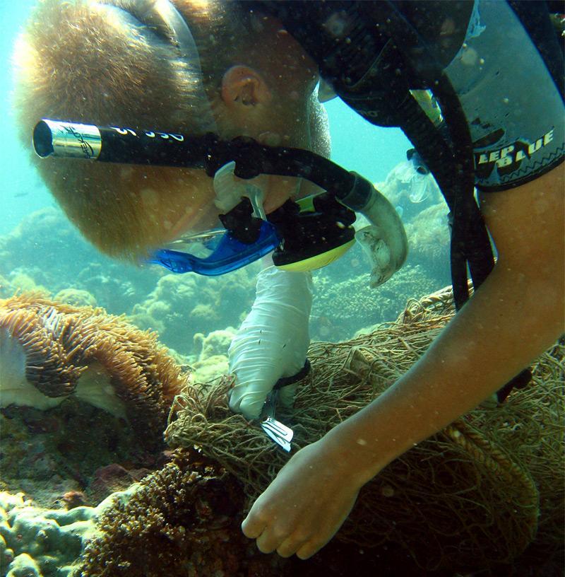 Action nettoyage des récifs