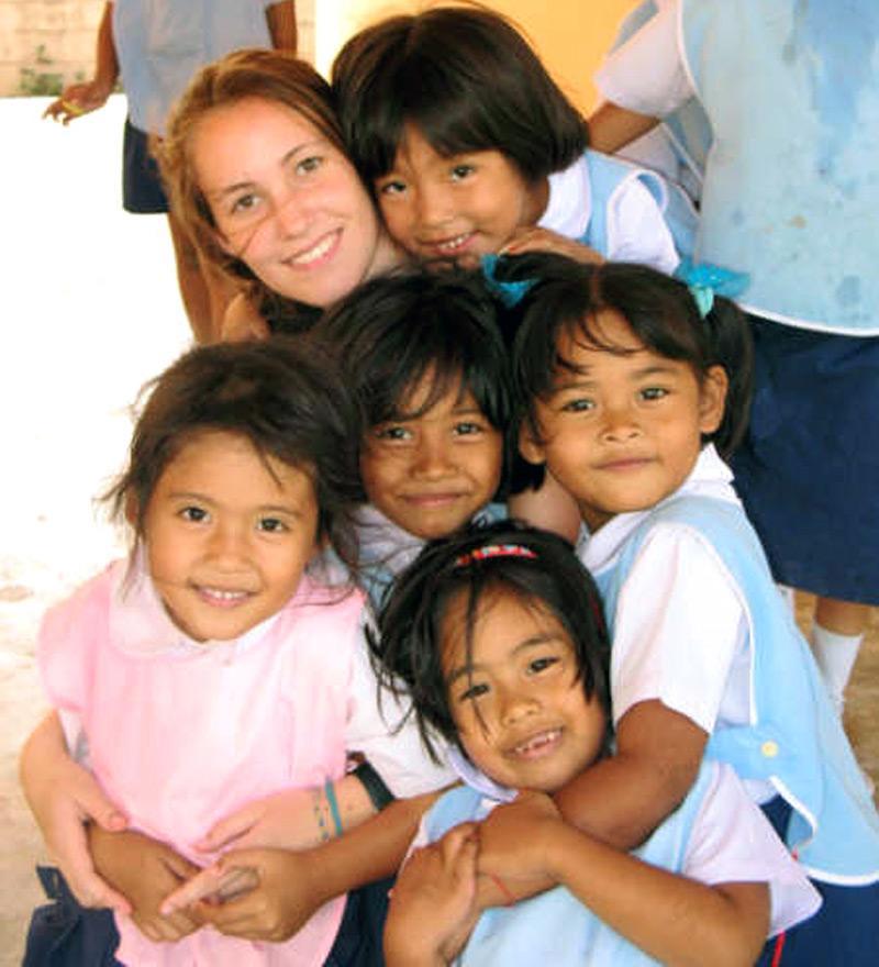 Volontaire auprès d'enfants