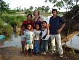 Volunteer with host family