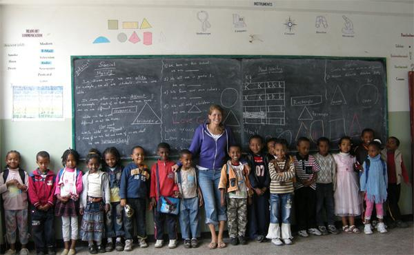 Teaching volunteer in Ethiopia