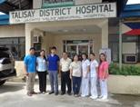 Philippines group outside hospital
