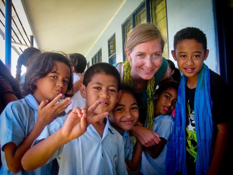 Volontariato nelle scuole alle Samoa