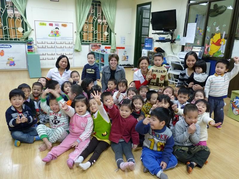 Una volontaria di Projects Abroad del progetto di volontariato con i bambini in Vietnam
