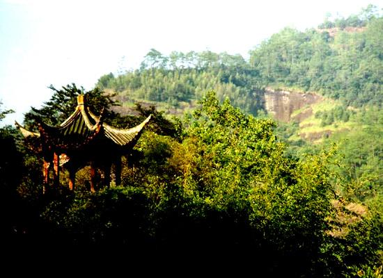 Mountain temple in China