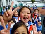 中国の教育プロジェクトの活動先の子供たち