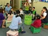 Volunteers teaching in China