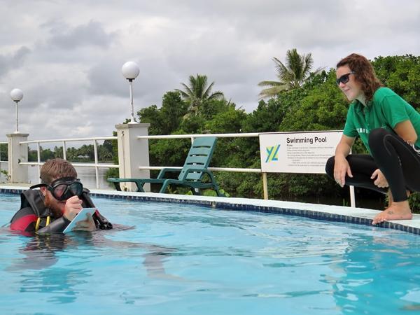 Scuba Training in a pool