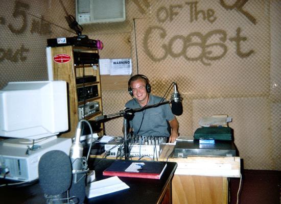 At radio station