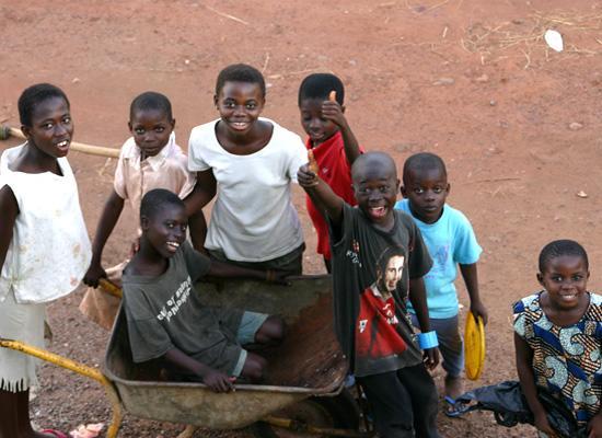 Local kids playing