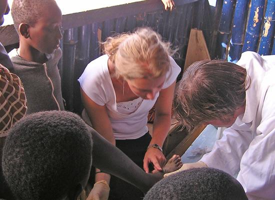 Medical outreach at orphanage