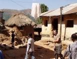 Volunteer in one of villages