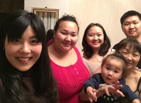 モンゴル人家庭でのホームステイ
