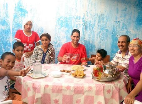 モロッコでボランティアが滞在する家庭