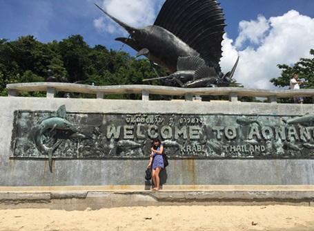 タイのアオナンビーチで