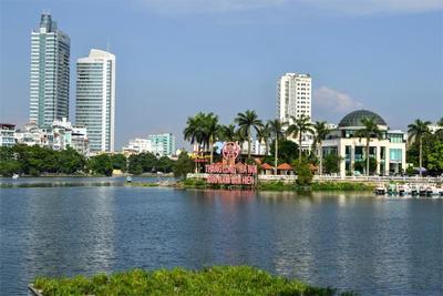 ベトナムの首都ハノイの中心街